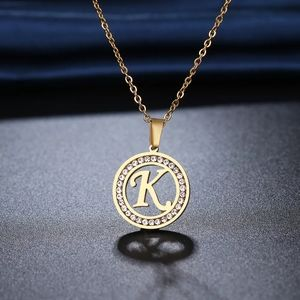 Gold plated Stainless Steel letter K Necklace